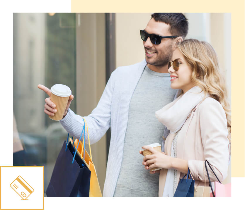 humm90 couple with sun glasses drinking coffee dsk