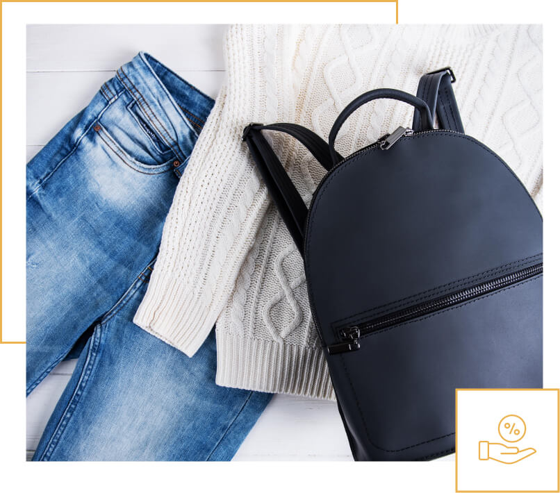 humm90 pair of jeans sweater and backpack get 110 days interest free dsk